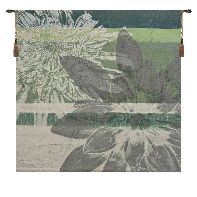 Graphic Blooms II Fine Art Tapestry