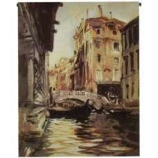 Italian River View Tapestry Wall Hanging