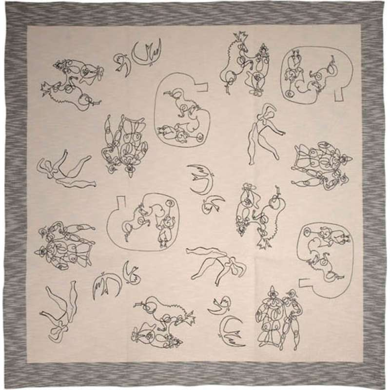 En Un Trait I French Tapestry Throw