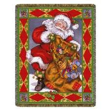 Santa's Treasures  Tapestry Throw