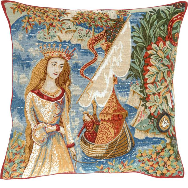Lady of the Lake French Tapestry Cushion