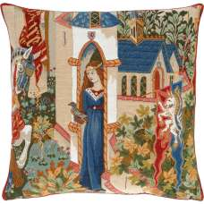 Lady of Camelot French Tapestry Cushion