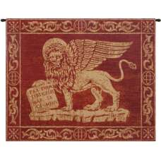 Leone Rosso Italian Tapestry Wall Hanging