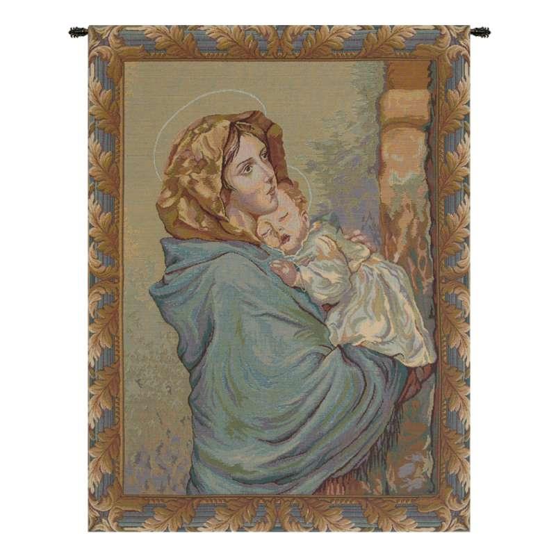 Madonna Ferruzzi Italian Tapestry Wall Hanging