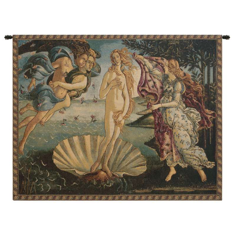 Nascita di Venere by Sandro Botticelli Italian Tapestry Wall Hanging