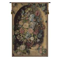 Large Flowers Piece  Italian Tapestry Wall Hanging