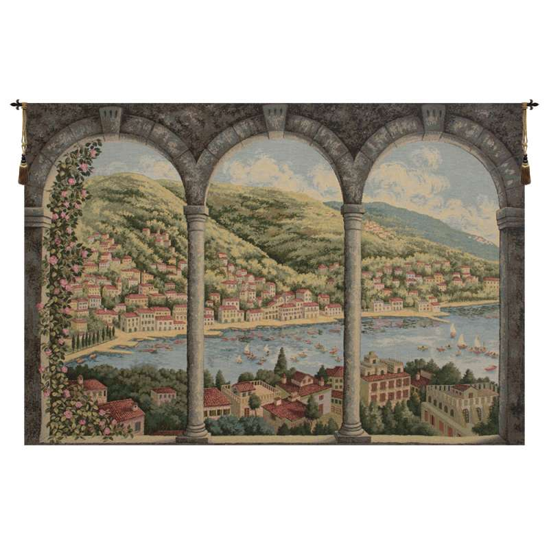 Como Lake Italian Tapestry Wall Hanging