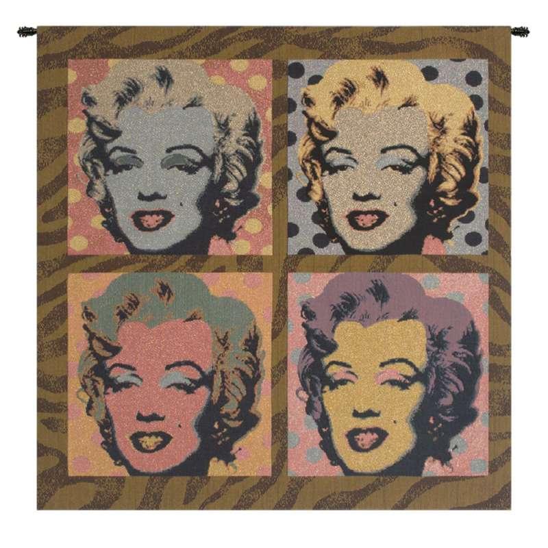 Marylin Monroe PopArt Italian Tapestry Wall Hanging