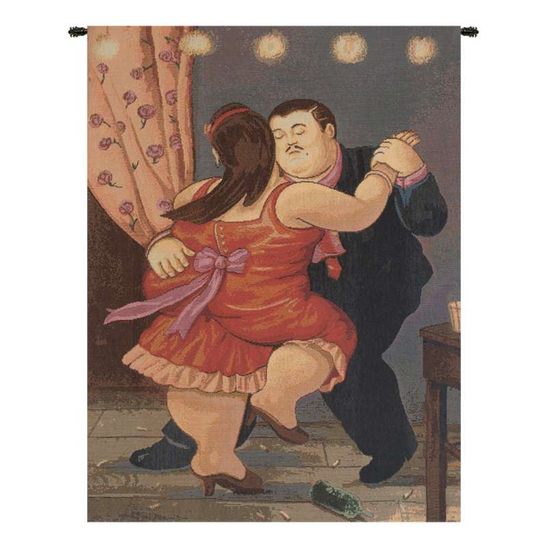 Botero Rosso Italian Tapestry Wall Hanging