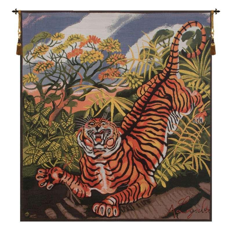 Ligabue Tiger Italian Tapestry Wall Hanging