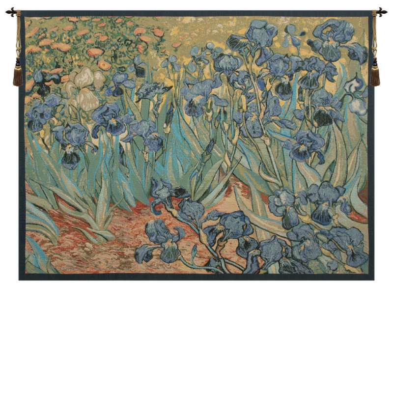 Iris by Van Gogh Italian Tapestry Wall Hanging