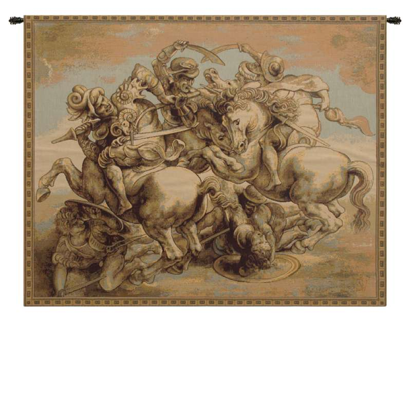 The Battle of Anghiari Italian Tapestry Wall Hanging