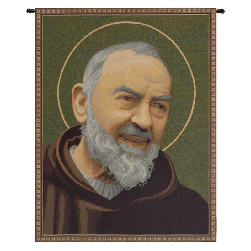 San Pio Father Pio III Italian Tapestry Wall Hanging