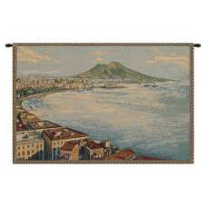 Gulf of Naples Italian Tapestry Wall Hanging