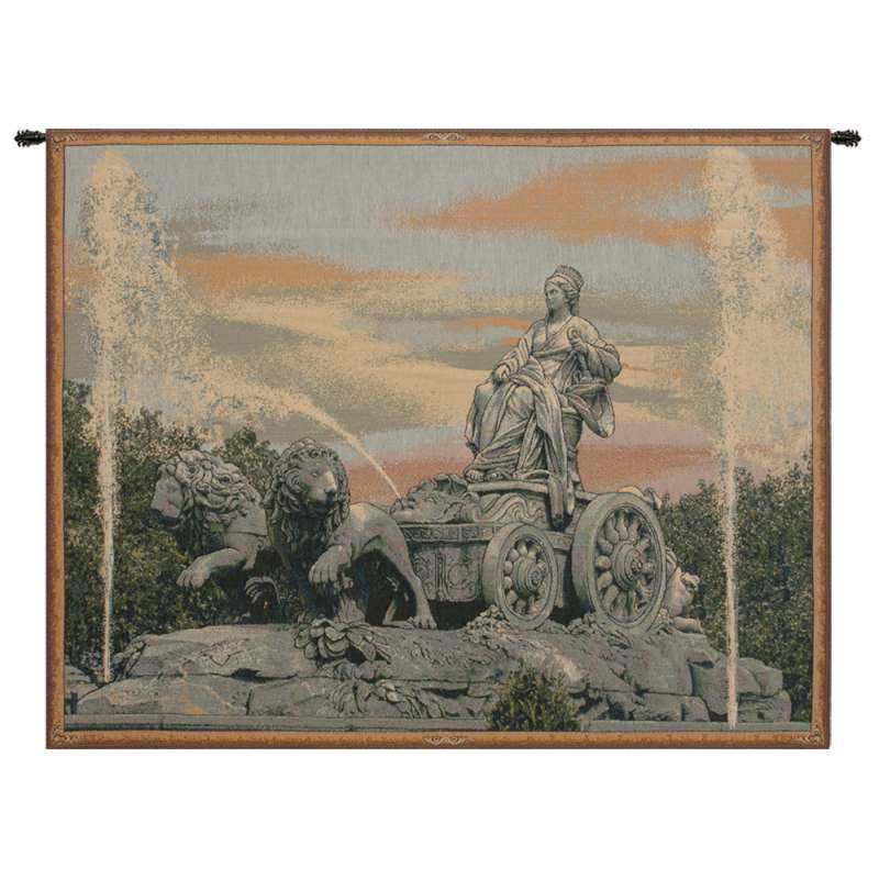 Cibele Madrid Fountain Italian Tapestry Wall Hanging