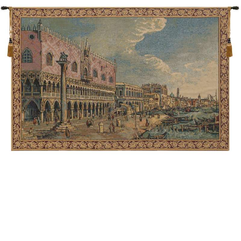 Riva Degli Schiavoni Small Italian Tapestry Wall Hanging