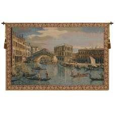 The Rialto Bridge Grand Canal Small Italian Tapestry Wall Hanging