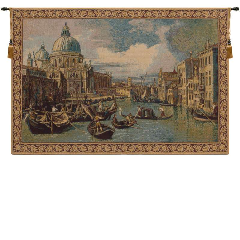 Saint Mary of Health and the Grand Canal Horizontal Small Italian Tapestry Wall Hanging