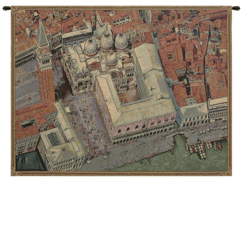 Venice from Above Italian Tapestry Wall Hanging