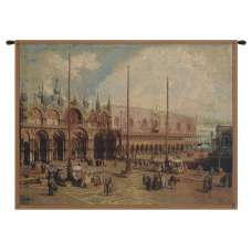 Palazzo Ducale and San Marco Italian Tapestry Wall Hanging