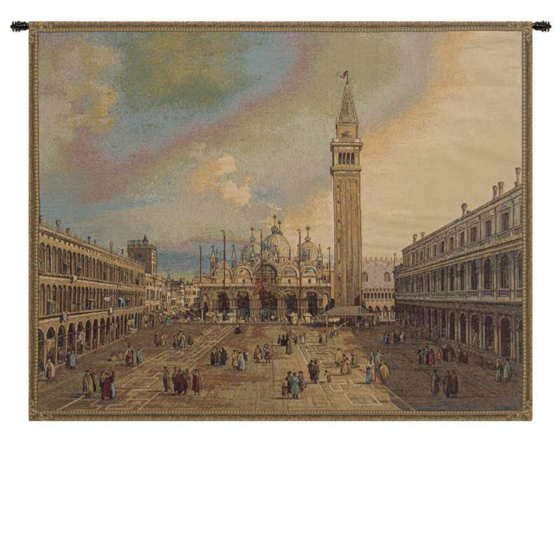 San Marco Square Italian Tapestry Wall Hanging