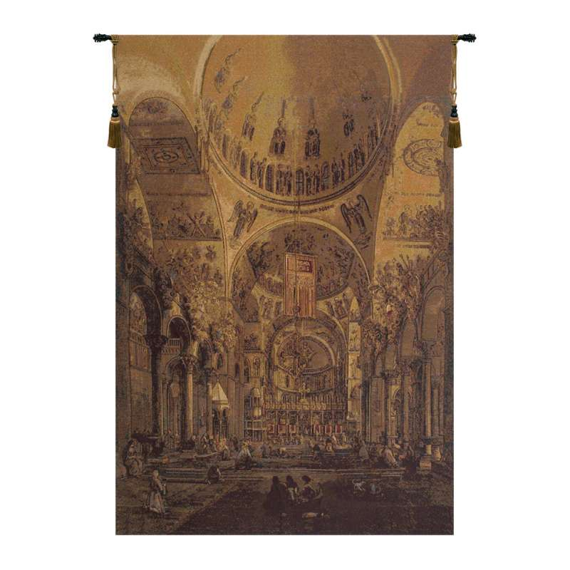Inside San Marco Italian Tapestry Wall Hanging