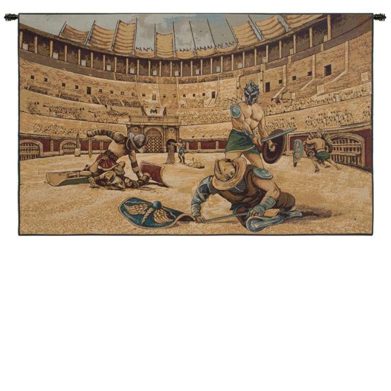 Gladiators Italian Tapestry Wall Hanging