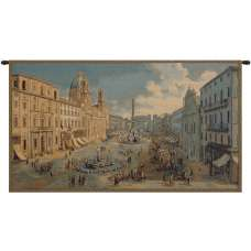 Navona Square Italian Tapestry Wall Hanging