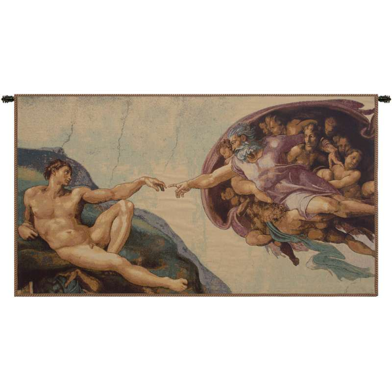 The Creation by Michelangelo Italian Tapestry Wall Hanging