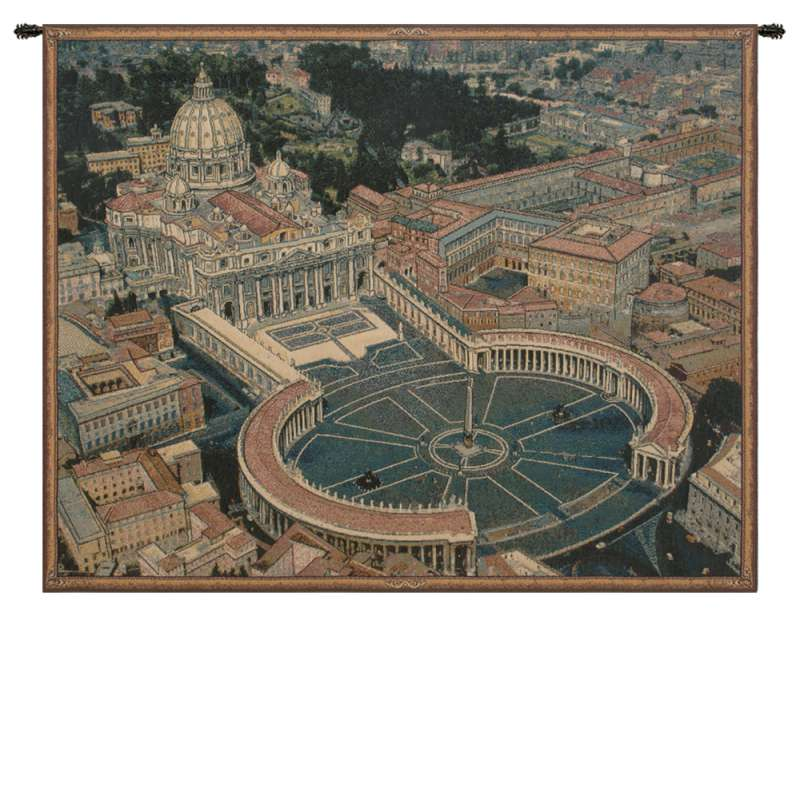 St. Peters Square Italian Tapestry Wall Hanging