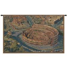 The Coliseum Rome Small Italian Tapestry Wall Hanging