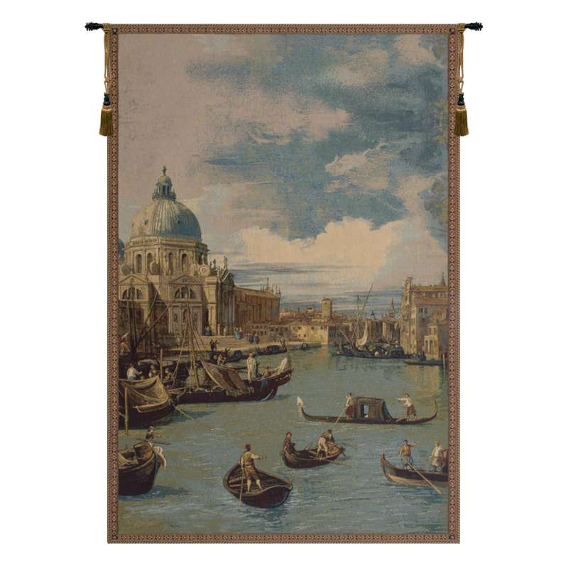 Saint Mary of Health and the Grand Canal Vertical Italian Tapestry Wall Hanging