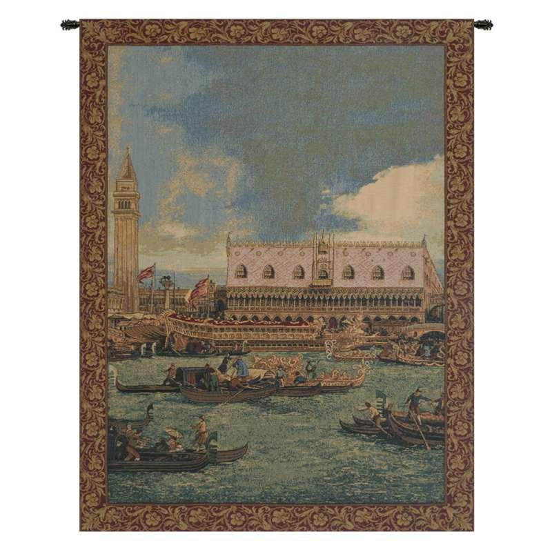 Bucintoro I Vertical Italian Tapestry Wall Hanging