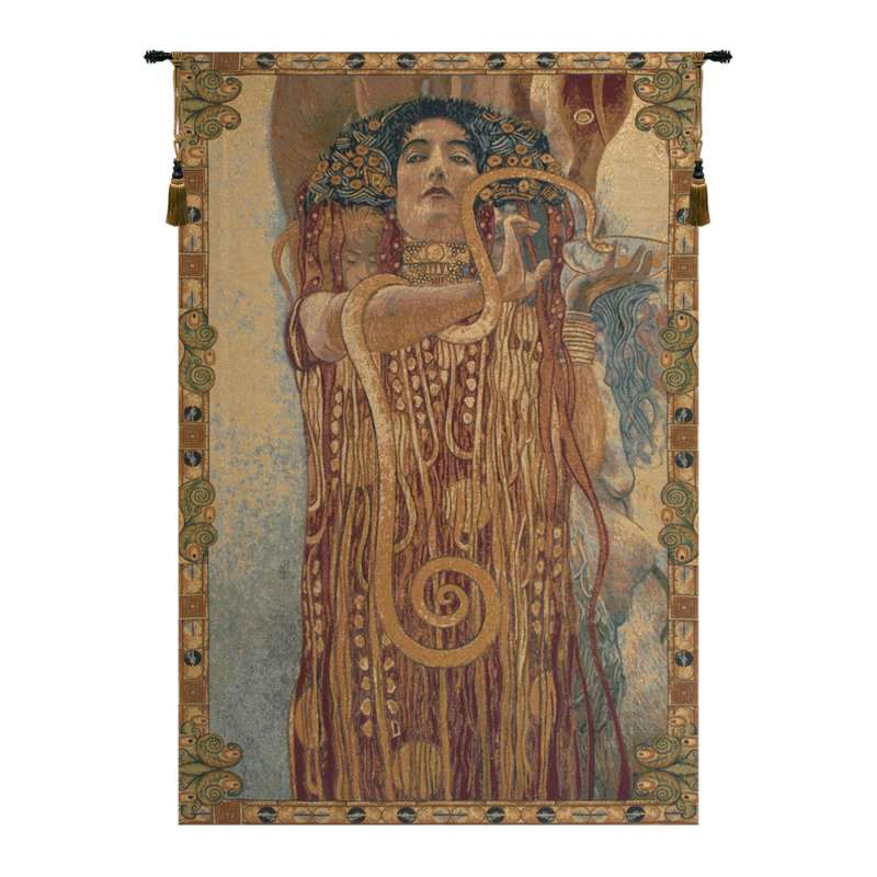 Hygeia by Klimt Italian Tapestry Wall Hanging