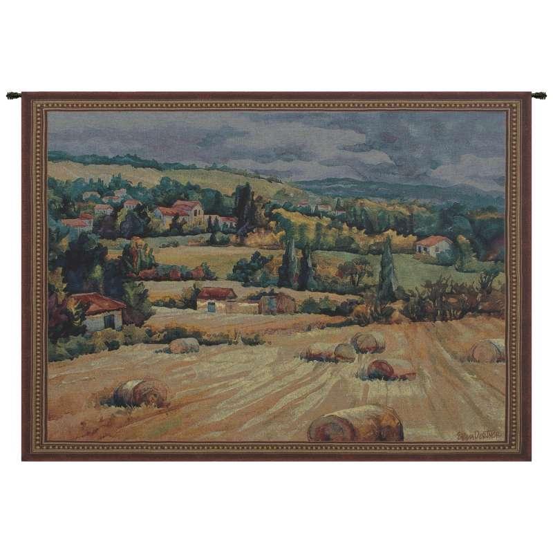 French Farmland Tapestry Wall Art