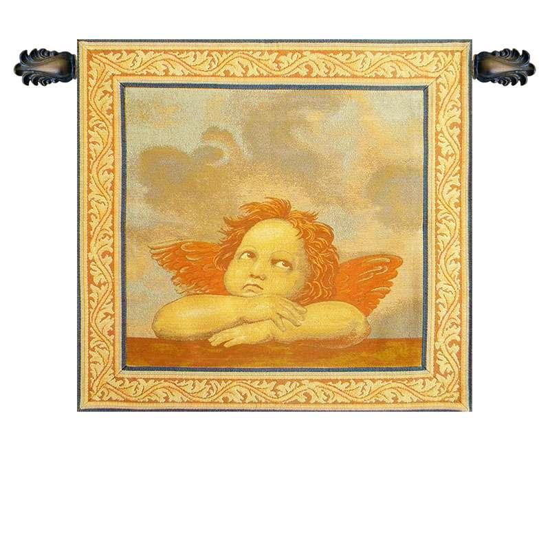 Raphael's Angel Right Panel Italian Tapestry Wall Hanging