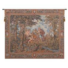 Autumn Grapes in Basket European Tapestries