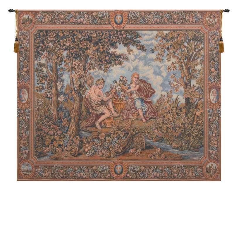 Autumn Grapes in Basket European Tapestries