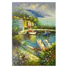Ships on the Bay Canvas Wall Art