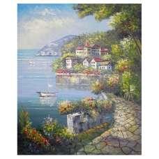 Europe Harbor Oil Painting Wall Art