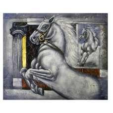 Galloping Horse Canvas Wall Art
