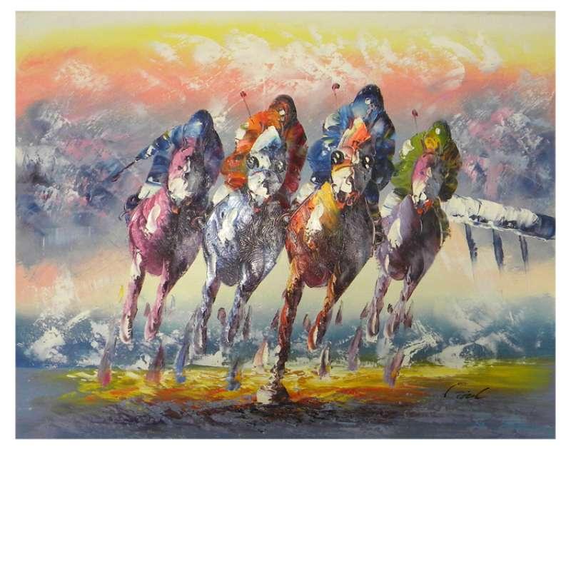 Horse Race Canvas Wall Art