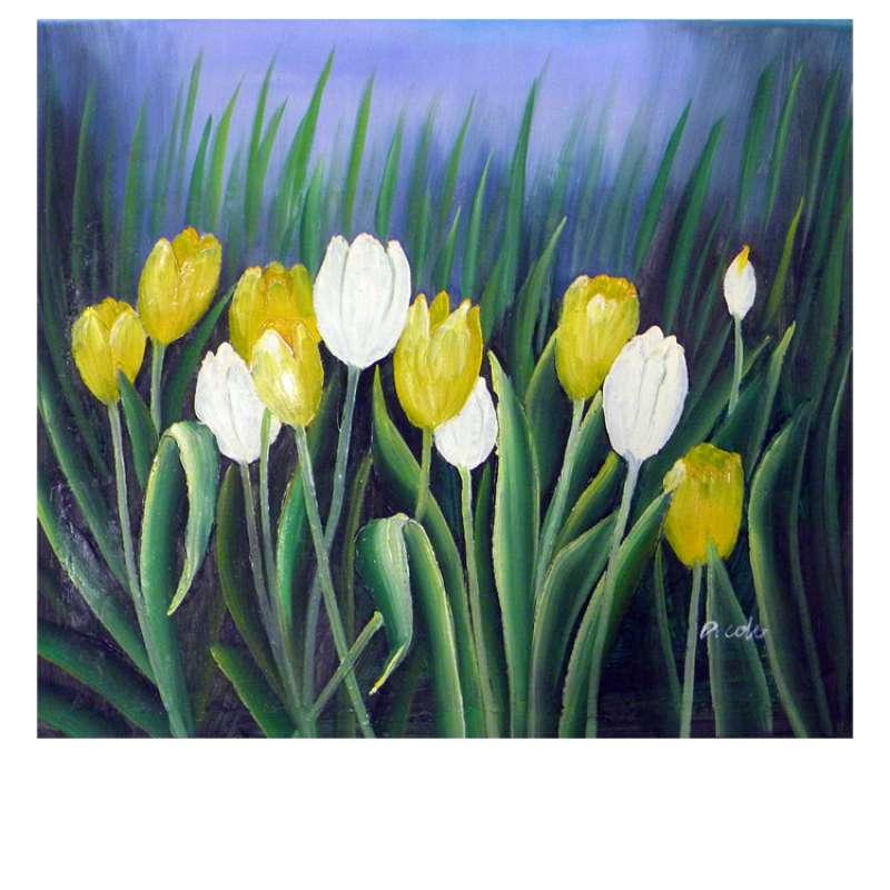 Budding Tulips Canvas Wall Art