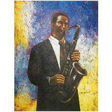Saxophonist Canvas Wall Art