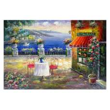 Oceanside Restaurant Canvas Wall Art