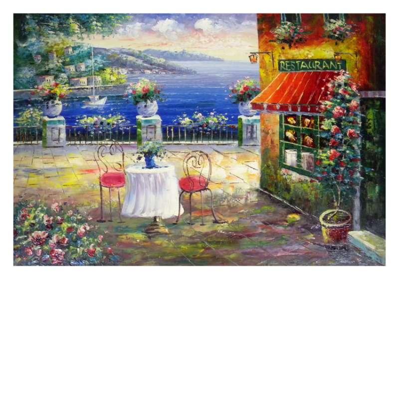 Oceanside Restaurant Canvas Wall Art