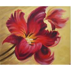 Flamboyant Flower Canvas Wall Art