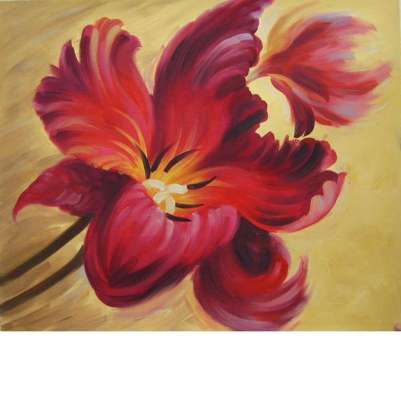 Flamboyant Flower Canvas Wall Art