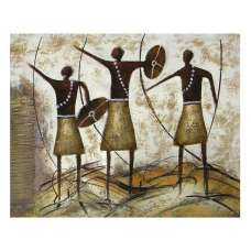 Three Brave Men Canvas Wall Art