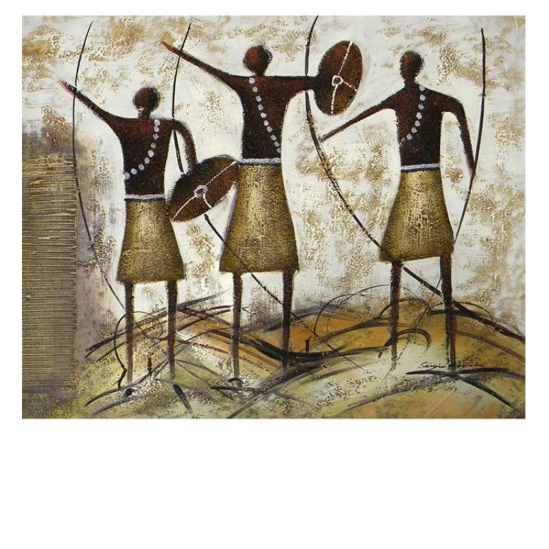 Three Brave Men Canvas Wall Art